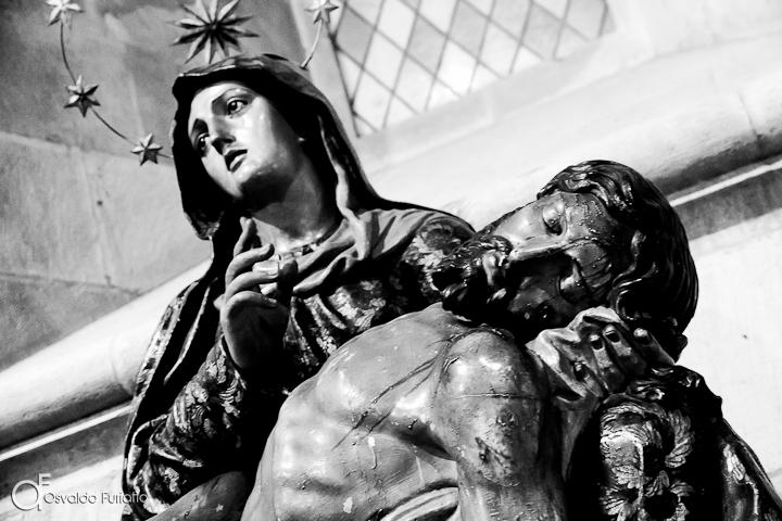 As 100 Sacras: Dia 13 - Imagem de Jesus e Maria na Catedral da Sé de Lisboa, Portugal