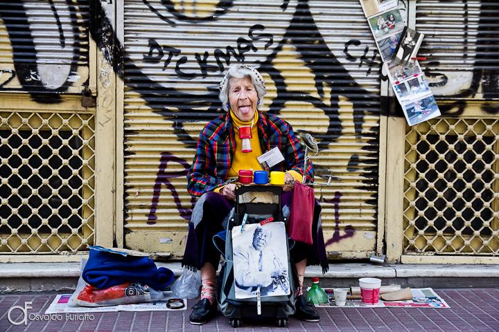 Artista de rua em Buenos Aires