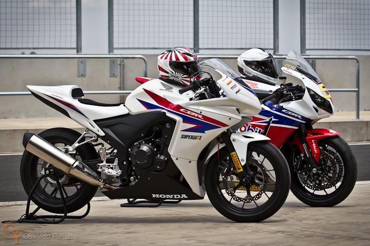 Hondas CBR 500R e Fireblade #umamotopordia #osvaldofuriatto