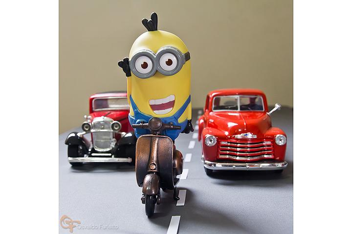 Minions em uma moto por dia: Dia 7