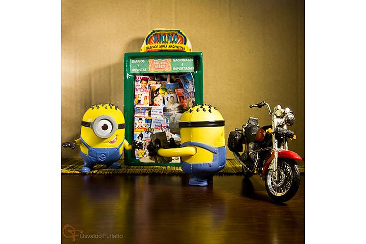Minions em uma moto por dia: Dia 8