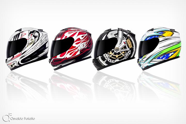 Fotografia para publicidade da linha de capacetes MT